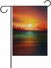 Eslifey Fantasy Sunrise Landscape Doppelseitige