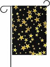 Eslifey Flagge mit goldenen Sternen, doppelseitig,