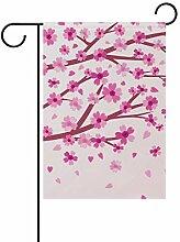 Eslifey Flagge mit Kirschblütenmotiv,