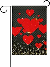 Eslifey Red Love Hearts Valentinstag Doppelseitige