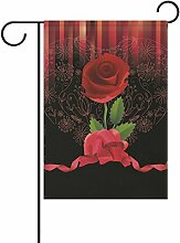 Eslifey Rote Rosenblüte doppelseitige