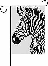 Eslifey Zebra Doppelseitige Familienflagge