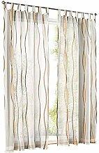 ESLIR Gardinen mit Schlaufen Vorhänge