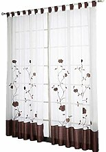 ESLIR Gardinen mit Schlaufen Vorhänge Transparent