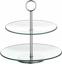 Esmeyer Etagere, Glas, transparent/Silber, 27 x 27