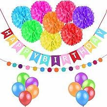 esonmus Geburtstagsdeko Set Dekoration Geburtstag
