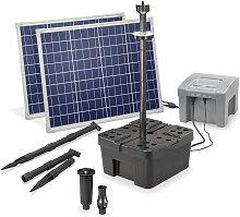 Esotec - Solar Teichfilter Set 100/2600 + Akku LED