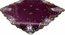 Espamira Tischdecke 85x85 cm WEIHNACHTEN Kerzen