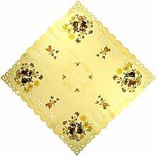 Espamira Tischdecke Ostern Gelb Mitteldecke Decke