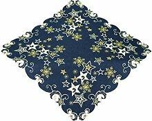 Espamira Tischdecke Weihnachten Mitteldecke Decke