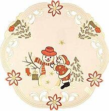 Espamira Tischdecke Weihnachten Schneemann