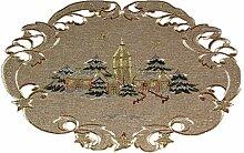 Espamira Tischdecke Weihnachten Winter Leinenoptik