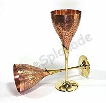 eSplanade Kupfer Champagnerglas reines reines
