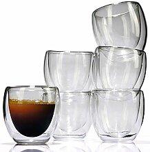 Espresso-Glas 6er Set - Thermo Gläser - von LVKH