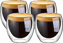 Espressotassen, Glasbecher, Espressotasse,