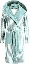 ESPRIT Bademantel Striped Mint mit Kapuze Streifen