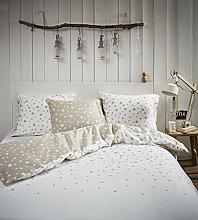 Esprit Bettwäsche Raining Stars weiß 240x220