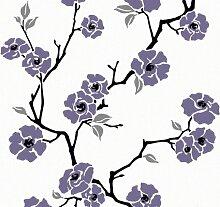 Esprit Home 219947 Vliestapete Sunny Blossum, Mustertapete, floral