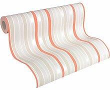 Esprit Home Vliestapete Deep Summer Tapete Streifentapete 10,05 m x 0,53 m beige creme orange Made in Germany 302813 30281-3