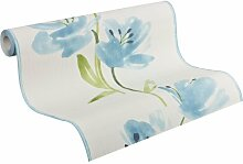 Esprit Home Vliestapete Tapete floral 10,05 m x 0,53 m blau weiß Made in Germany 331410 3314-10
