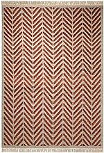 Esprit Teppich Ethno (60 x 110cm) in Rot - reine Schurwolle - Florhöhe 6mm