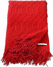ESPRIT Weave Plaid Decke Tagesdecke Kuscheldecke