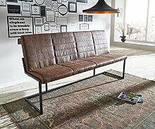 Essbank Newcastle Braun 180x65 cm Braun Vintage Eisen Sitzbank