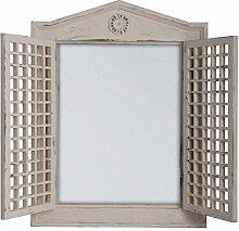 Esschert Design Fenster, Holz, Spiegel, weiß,