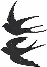 Esschert Design Gusseisen Vogel Wandtattoo
