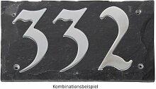 Esschert Design Set: Hausnummer 195 aus Edelstahl