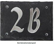 Esschert Design Set: Hausnummer 4A aus Edelstahl