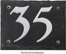 Esschert Design Set: Hausnummer 77 aus Edelstahl