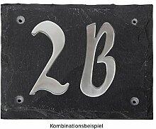 Esschert Design Set: Hausnummer 9A aus Edelstahl