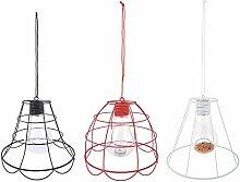 Esschert Design Teelichthängelampe Draht sortiert aus Eisen, Glas und Polyester, 25,2 x 25,2 x 22,3 cm