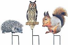Esschert Design tp192Garten Stick Herbst Tiere Sortimen