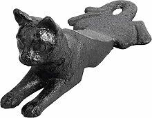 Esschert LH130 Türstopper Katze Gusseisen, 8 x 17 x 7 cm