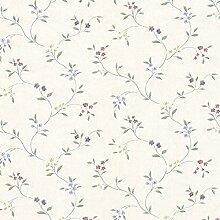 Essener Floral Prints Vinyltapete PR33802 Creme Rot Blau Grün Lila Landhaus Vintage Floral