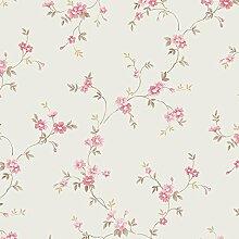 Essener Floral Prints Vinyltapete PR33834 Creme Beige Rot Braun Blumen Landhaus Vintage Floral