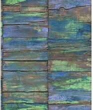 Essener Grunge Vlies Tapete G45342 Holz multicolor