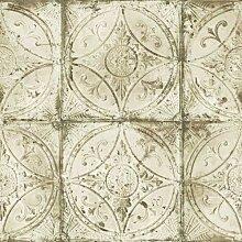 Essener Grunge Vlies Tapete G45375 Ornamente beige
