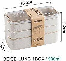 Essensbox 900ml Tragbarer gesundes Material Lunch