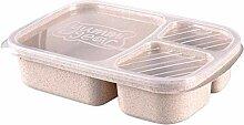 Essensbox Lunch Box Portable Multiple Grids School