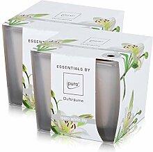 Essentials by Ipuro Duftkerze white lily 125g -