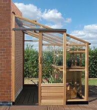 Essentials sale-gl03056x 10ft Gewächshaus inklusive Boden aus Stahl–rot Zeder