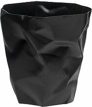 Essey 00704 Papierkorb Mülleimer Bin, Polyethylen HD, schwarz, 33,1 x 33,1 x 33 cm
