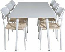 Essgruppe Huckaby mit 6 Stühlen