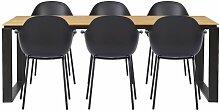 Essgruppe Lit mit 6 Stühlen