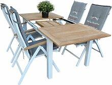 Essgruppe Navya mit 4 Stühlen Garten Living