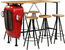 Essgruppe Ophir mit 6 Stühlen Williston Forge