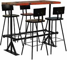 Essgruppe Pershore mit 4 Stühlen Williston Forge